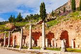 Ruined building in Delphi — Stock Photo