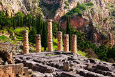 Ruined temple in Delphi — Stock Photo