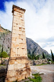 The view on ancient column — Stock Photo