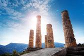 древнегреческий храм аполлона — Стоковое фото