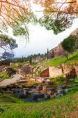 The ruins of Delfi, Greece — Foto de Stock