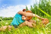 Girl doing gymnastics — Stock Photo