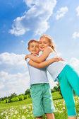 Kids hugging — Stock Photo