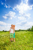 Children together on a meadow — Stock Photo