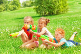 Girls playing on a grass — Stock Photo
