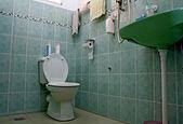 An Ordinary Bathroom Cum Toilet — Stock Photo