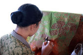 Batik Making — Stock Photo