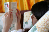 Reading A Book — Stock Photo