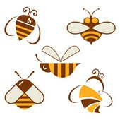 Set of vector signs bee. apiary — Vettoriale Stock