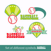 Vector baseball sport design element, signs and symbols — Vettoriale Stock