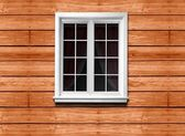 Window and wooden wall — Stock Photo