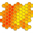 Stock Photo: Honey comb pattern background