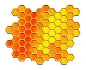 Honey comb pattern background — 图库照片