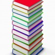 High stack of books — Stock Photo