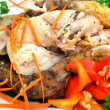 Grilled chicken breast with salad — Stock Photo