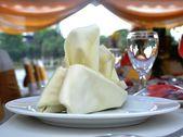 Table setting at wedding reception — Stock Photo