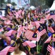 People Waving Malaysian Flags — Stock Photo #30842703