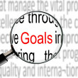 Magnifying on Word Goals — Stock Photo