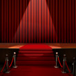 Red Carpet and Stage with Security Barrier — Stock Photo #33104393