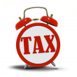 Tax Alert Clock Ringing — 图库照片 #33850625