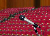 Microphone in Lecture Hall — Stock fotografie
