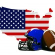American Football with Flag and Map — Stock Photo #45261827