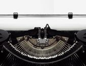 Typewriter with Blank Document Paper — Stock Photo