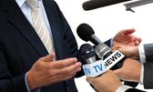Media Interview with Spokesperson — Stock Photo