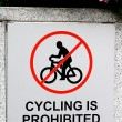 Cycling prohibited — Stock Photo