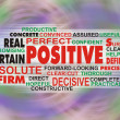 POSITIVE wordcloud on an abstract colorful background — Stock Photo