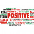 POSITIVE wordcloud on white background — Stock Photo