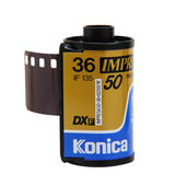 Konica Impressa 50 isolated on white — Stock Photo