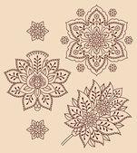Floral decorative elements — Stock Vector