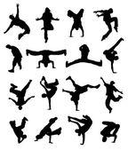 Breakdance — Stockvector