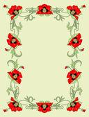 Poppies — Vector de stock