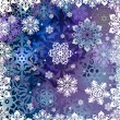 Stock vektor: Background from snowflakes