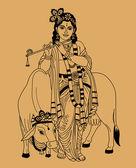 Indian god — Stock Vector