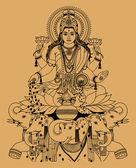 Lakshmi — Stock Vector