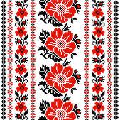 Floral Ukrainian ornament — Stock Vector