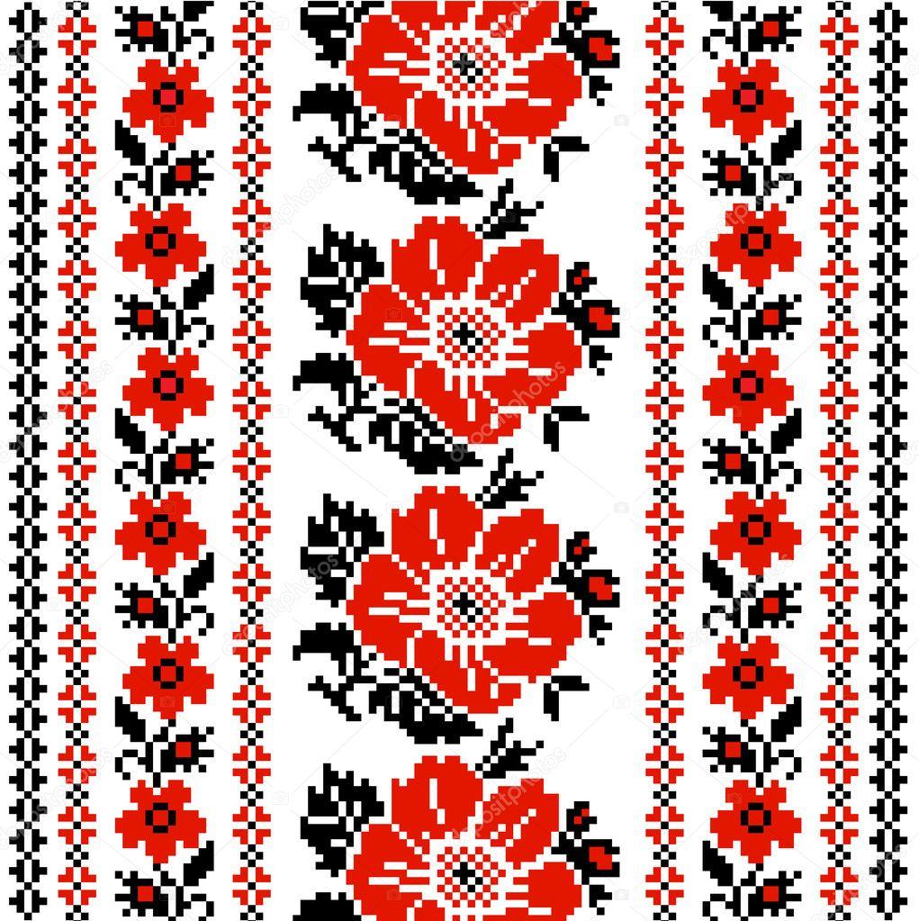 Узоры в украинских вышивках 752