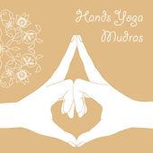 Hands yoga mudras — Stock Vector