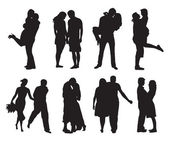 Casais apaixonados — Vetorial Stock
