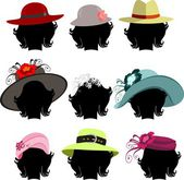 Set of Hats — Foto de Stock