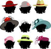 Uppsättning hattar — Stockfoto