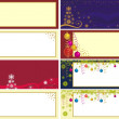 Stock Vector: Xmas banners