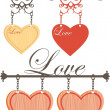 Valentine sign - Stock Vector