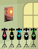 Bikini salon — Stock Vector