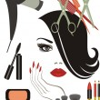 Vector de stock : Beauty