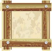 Wooden frame — Stock Vector