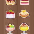 Cakes and ice cream — Stock vektor